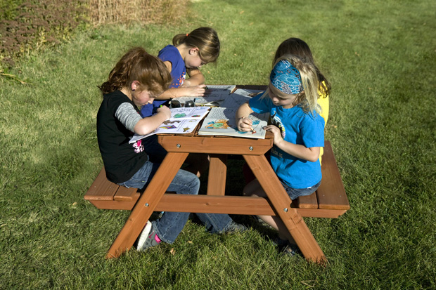 Picnic Table with Benches - RainbowPlay